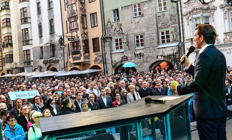 Sebastian Kurz auf Wahlkampftour
