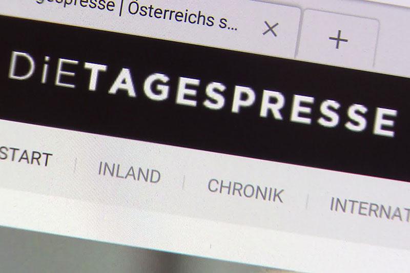 Tagespresse-Website Schriftzug