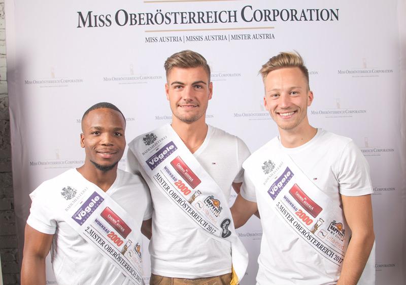 Daril Garcia Taveras und Philipp Kastner bei der Wahl zum Mister Oberösterreich 2017