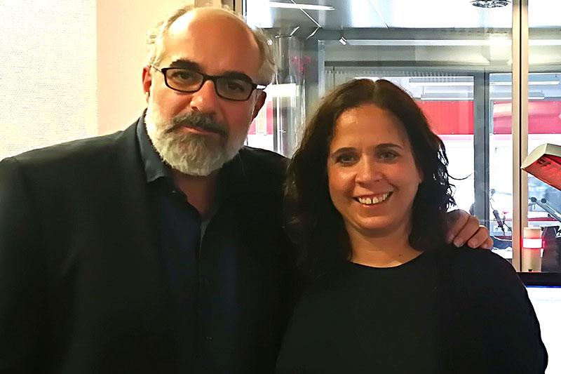 Kabarettist Michael Niavarani und Radio Salzburg Moderatorin Gabi Kerschbaumer