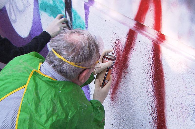 Graffiti im Gemeindebau