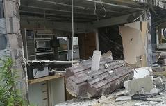 Küche des zerstörten Hauses in Aspersdorf