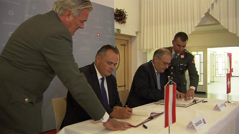 Luftraumüberwachung Vertrag Österreich und Schweiz