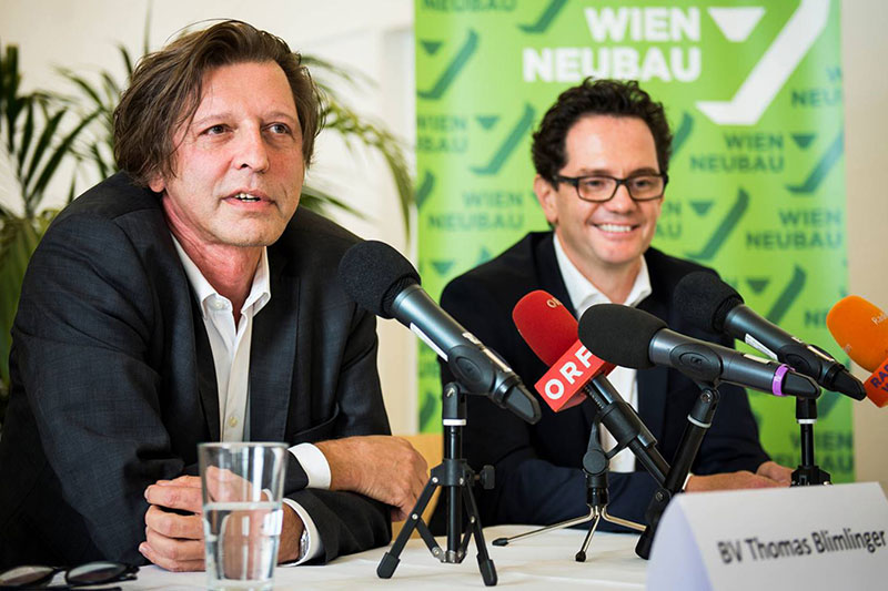 Blimlinger und Reiter bei Pressekonferenz zum Rücktritt