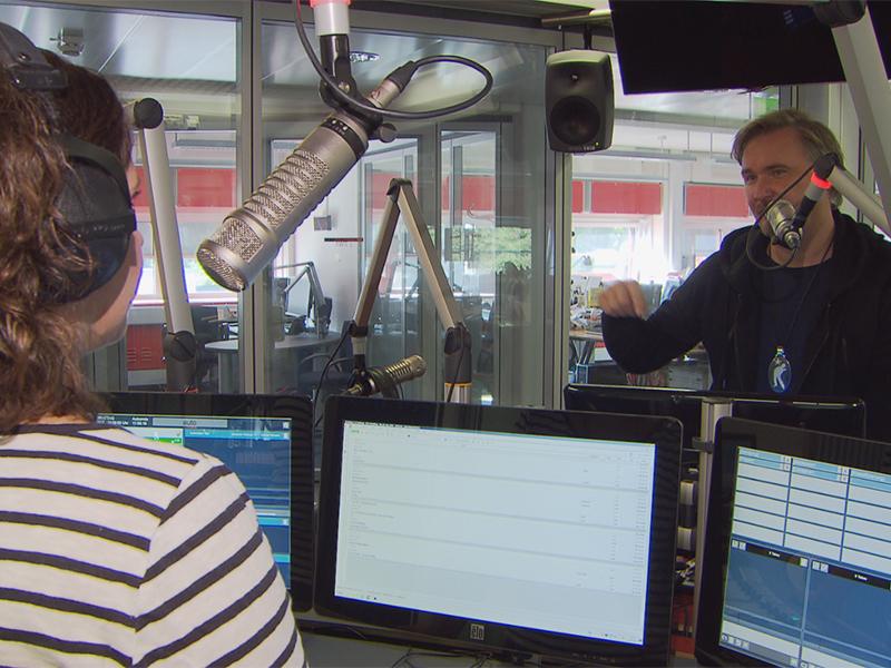 Nik P. im Radio Salzburg Cafe