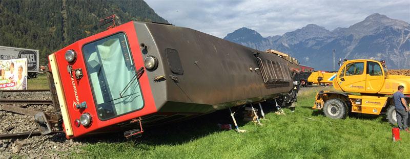 Zillertalbahn umgekippt