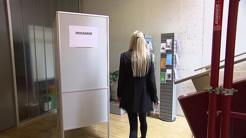 Wahlzettel, Urne