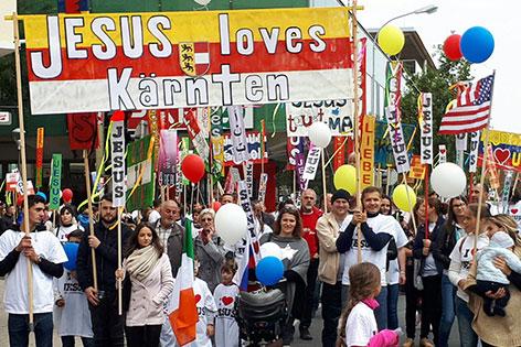 Marsch für Jesus Kärnten Klagenfurt