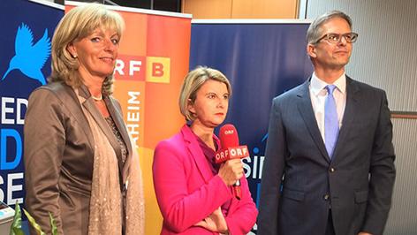 Elisabeth Böhm, Patricia  Spieß und Thomas Halbritter