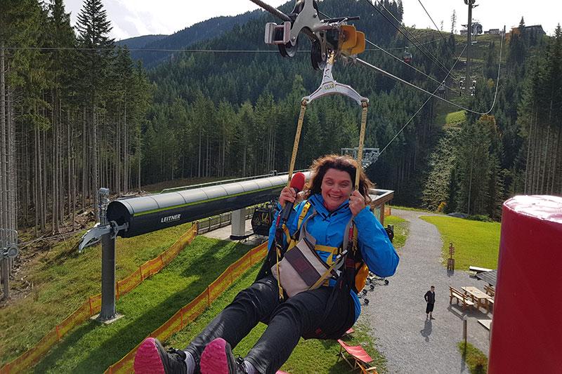 Caroline Koller auf dem Rosnerköpfl bei Werfenweng
