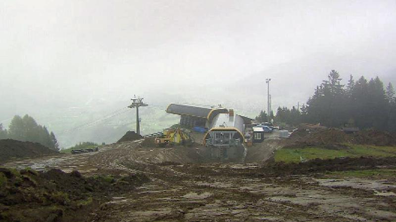 Bauarbeiten Skigebiet