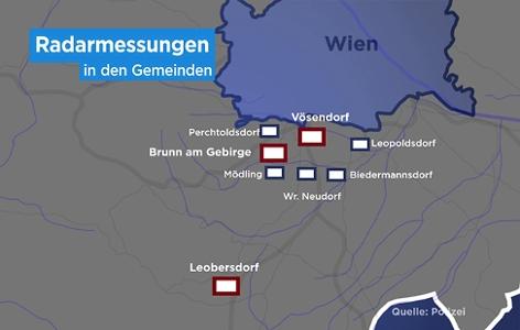 Radarmessungen Gemeinden