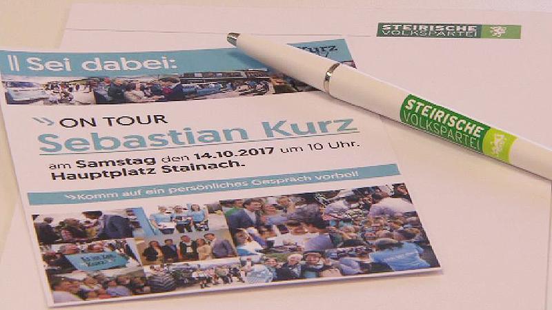 ÖVP-Wahlkampfmaterialien
