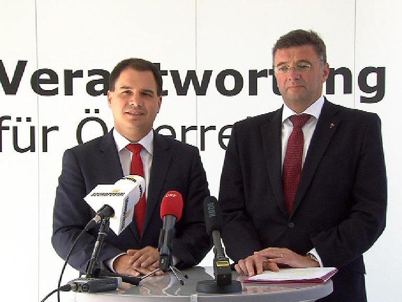 Von links: Michael Schickhofer und Jörg Leichtfried