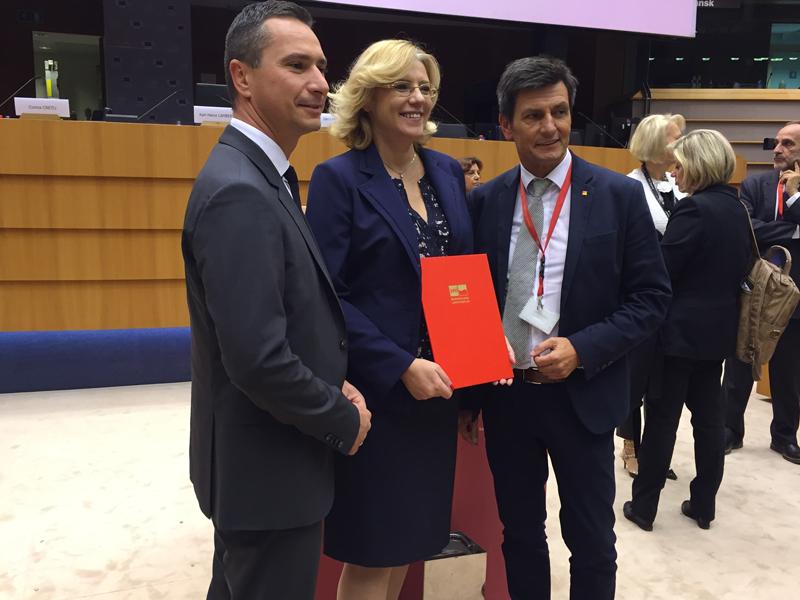 Christian Illedits, Robert Hergovich, EU-Regionalkommissarin Corina Cretu
