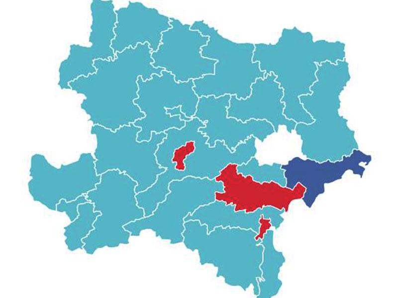 Nationalratswahl Übersicht Grafik Gemeinden