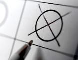Kreuz am Wahlzettel
