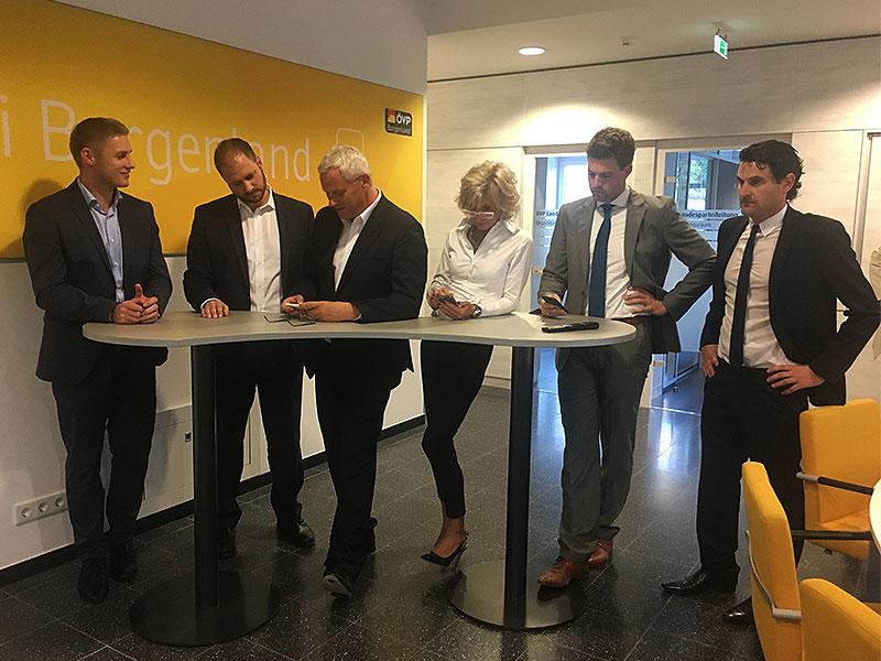Blick in ÖVP-Zentrale