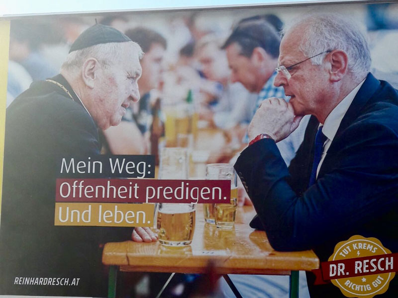 Wahlplakat Krems Resch Fürnsinn