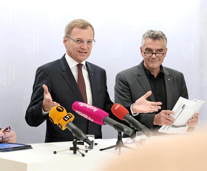 Landeshauptmann Thomas Stelzer, Landesamtsdirektor Erich Watzl