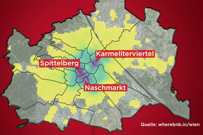 Grafik Hotspots in Wien