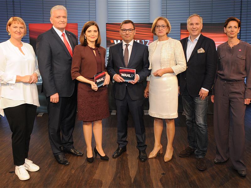 Nationalratswahl 2017 Landesparteiobleute Ziegler Schubert ORF Studio