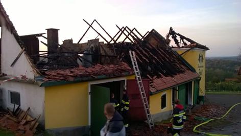 Nachlöscharbeiten und Brandwache