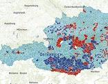 Heatmap der NR Wahl von Österreich