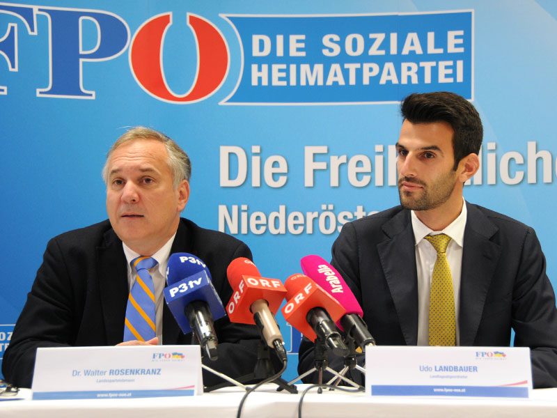 Walter Rosenkranz und Udo Landbauer
