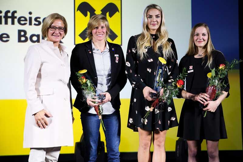 Johanna Mikl-Leitner, Corinna Kuhnle, Ivona Dadic, Jessica Pilz