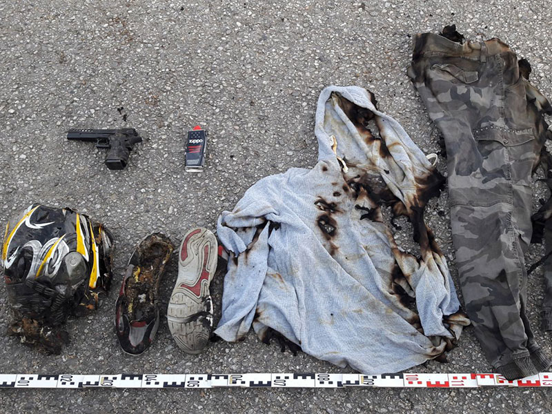 Polizei Göpfritz Täterkleidung Verbrennung