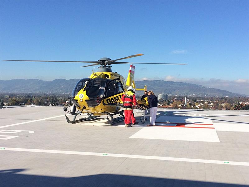23.08.16 Hubschrauber Landeplatz Dornbirn