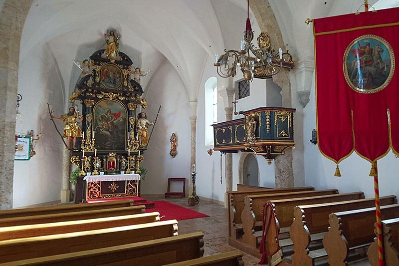 Inneres der Wallfahrtskirche Sommerholz bei Neumarkt am Wallersee