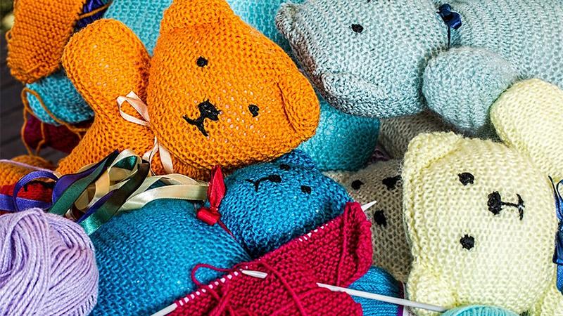 Stricken Teddybären Handarbeit Wolle