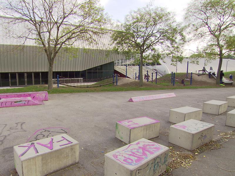 Skateplatz, Spielplatz Kirschblütenpark