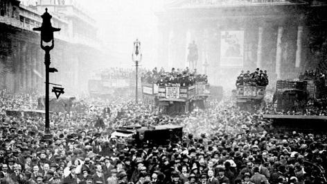 Ende des Ersten Weltkriegs, London