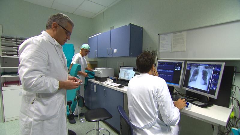 Ärzte in der Pneumologie am Krankenhaus Bozen