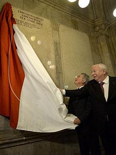 Heinz Fischer und Michael Häupl im Wiener Rathaus