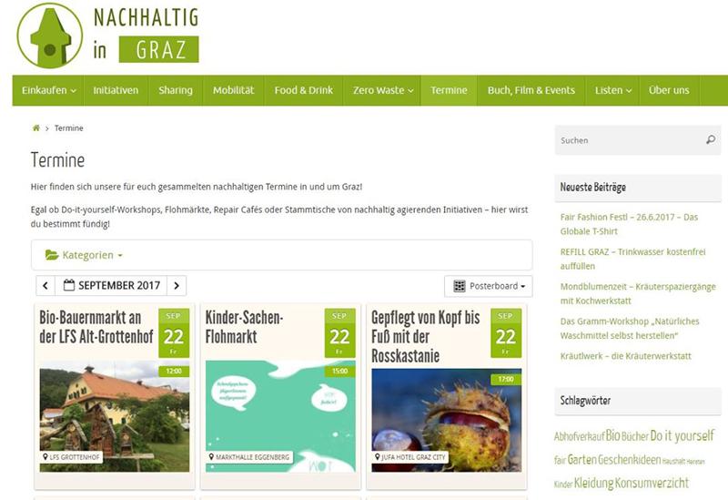 Nachhaltig in Graz - Website