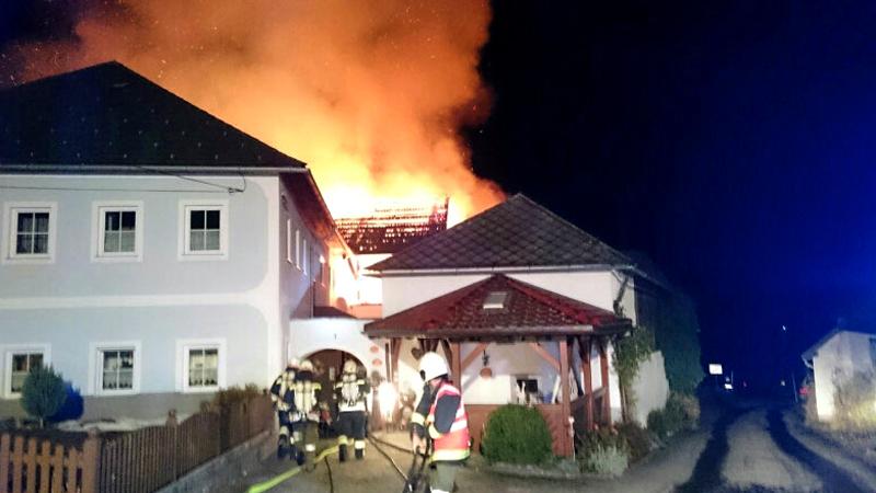 Brand Bauernhof Ulrichsberg