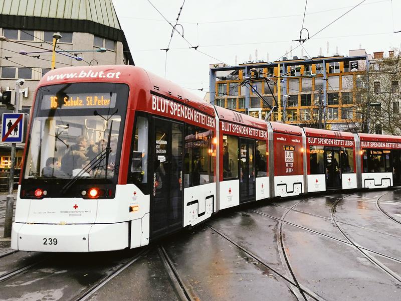 Blutspendestraßenbahn Graz