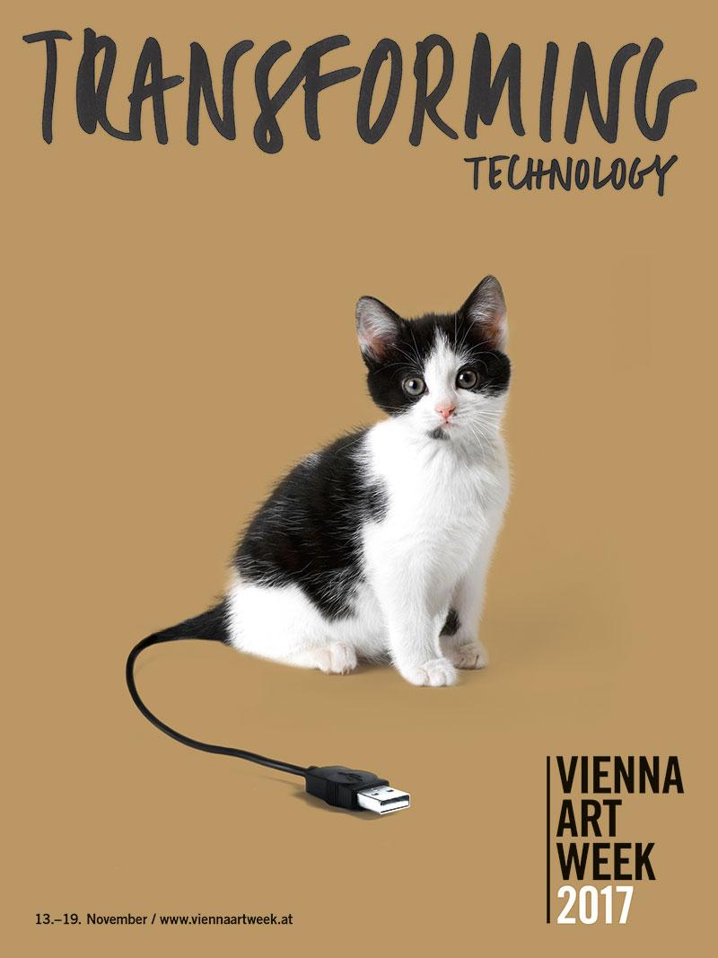 Plakat mit Katze
