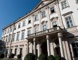 Fassade des Schlosses Mirabell in der Stadt Salzburg