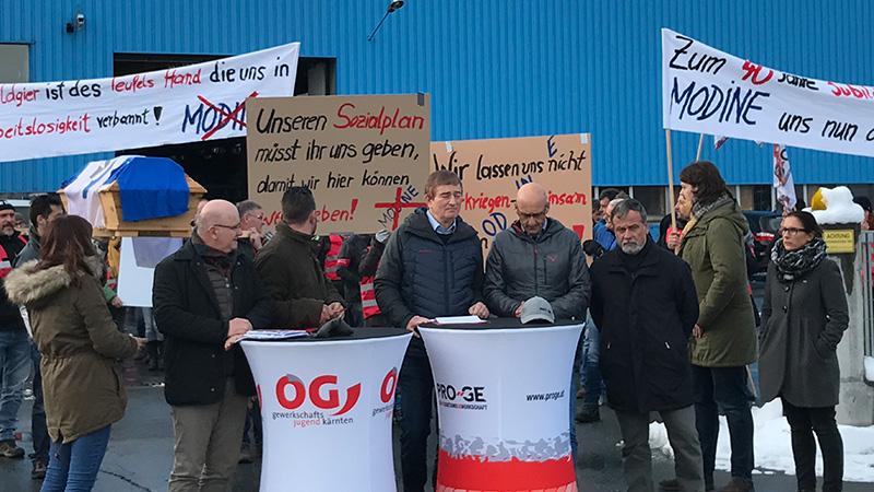 Protest Modine Kötschach Mauthen