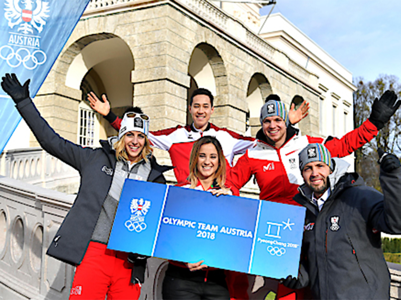 Österreichs Olympioniken eingekleidet