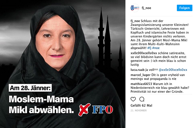 Wahlplakat Johann Mikl Leitner
