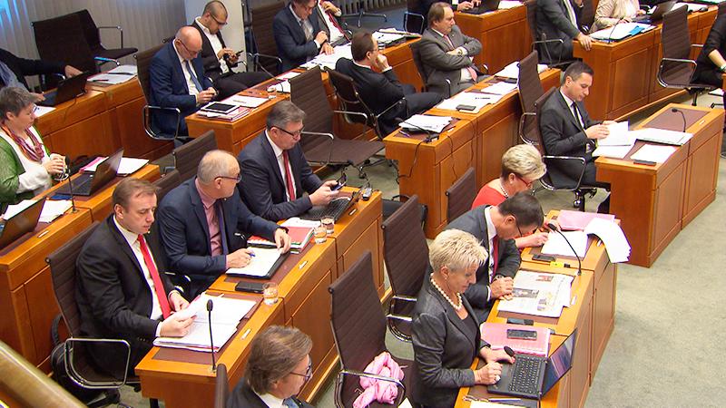 Landtag Budget Abstimmung Bieler Verabschiedung