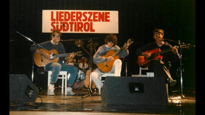 Die Gründer der Südtiroler Liedermacher vor 30 Jahren