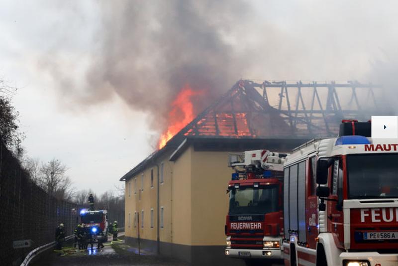 Bauernhofbrand Mauthausen