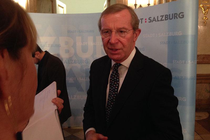 LH und ÖVP Chef Wilfried Haslauer im Schloss Mirabell bei der Bürgermeisterwahl